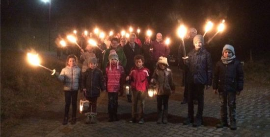 Deinze draagt het symbool van de vrede uit naar de buren in West-Vlaanderen.