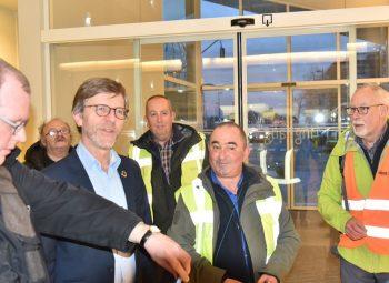 Burgemeester Alain Top in  Harelbeke.